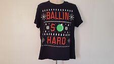 American Eagle Outfitters Christmas Ballin So Hard Black XL T-Shirt
