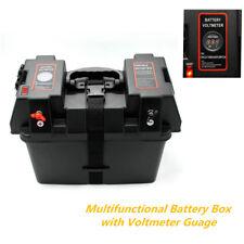 Caja de Batería Multifuncional voltímetro calibrador USB Cargador Coche Camión Barco Marina RV