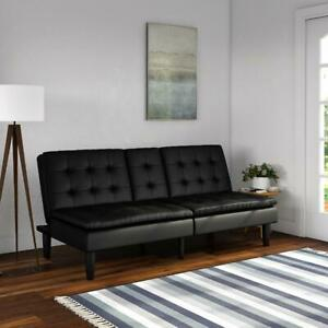 Mainstays Memory Foam Pillowtop Futon with Cupholders