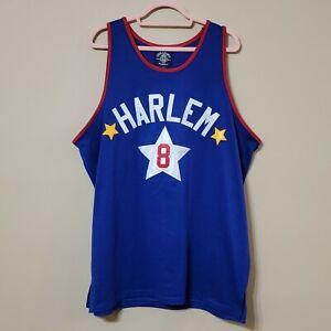 VTG NWT STEVE & BARRY'S Harlem Globetrotters Basketball Jersey #8 Blue, Men's L