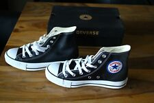 Converse All Star Schuhe Shoes NEU NEW Gr. 37,5 Schwarz Black Hi Leder