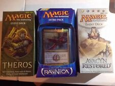 MTG 3 PACK LOT RETORN TO REVNICA INTRO &2 EVEVT DECK THEROS & AVACYN