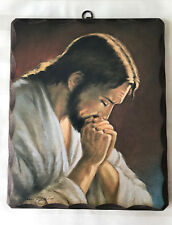 Historische Wandbild Bild Heilige Jesus von Nazaret Christus rustik holz 26,5