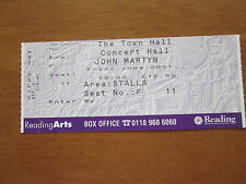JOHN MARTYN - READING TOWN HALL UK 22.6.2001 USED CONCERT TICKET