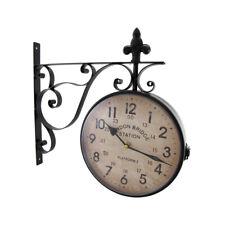 Zeckos London Bridge Station Double Sided Wall Mounted Clock