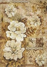 Carta di riso per Decoupage Decopatch Scrapbook Craft sheet VECCHI MERLETTI peonie