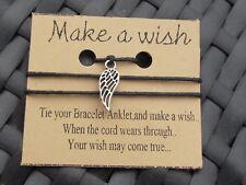 ANGEL WING  WISH BRACELET /ANKLET FRIENDSHIP BRACELET