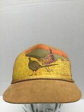 Vtg Country Turkey Bird Hunting Farming Hat