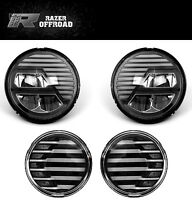 Extrame Skull Black LED Headlight+LED Turn Signal+DRL fit 07-17 Jeep Wrangler