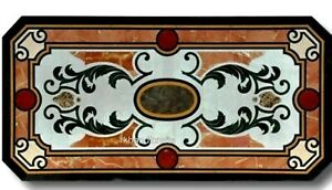 Marble Coffee Table Top with Heritage Art Office Meeting table 24 x 48 Inches