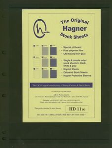 Hagner Double Sided Stamp Album Stock Pages and Official Deluxe Binder's