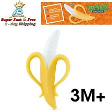 Infant Banana Teether Soft Silicone Baby Teething Massager Gums Soother BPA 3M+