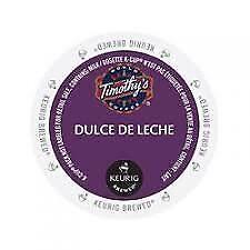 Timothys box 96 indulgent beverage kcups (Dulce de Leche) read descrition