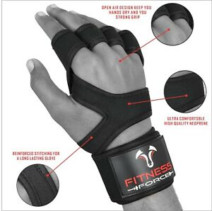 Weight lifting Gloves Cross Training WOD Gym Workout Power lifting Strong Grip