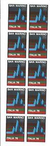 S34679 DEALER STOCK SAN MARINO 1976 MNH** Nuovi**  ITALIA'76 1v X 10 SETS