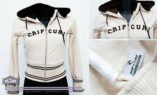 Rip Curl Cotton Fitness Nude Sweatshirt Hoodie Size S 6 8 UK with Zipper