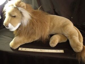 "EUC-21"" Fiesta Plush Lying Lion Stuffed Animal King of the Jungle CLEAN FLUFFY!"