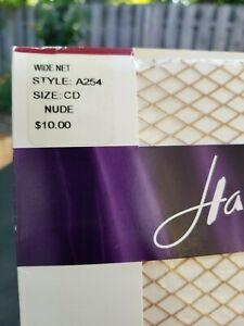 Hanes Women's Size C / D Fishnet Stocking Wide Net Hosiery