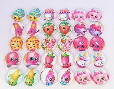 20 SHOPKINS CABOCHONS 12MM-RESIN/FLATBACK/CRAFT/CHILDRENS/KIDS CABOCHON-SHOPKIN