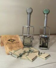 2 Garvey & Iti Price Marker Stamper S-180 Grocery Store Vintage with Pads