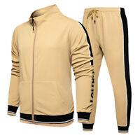 Men's Jogger Tracksuit Casual 2 Piece Sport Pants Jacket Sweatsuit Sweater Set