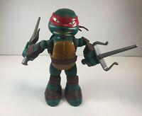 """Teenage Mutant Ninja Turtles Talking Raphael TMNT 8"""" 2014 Viacom Playmates TALKS"""