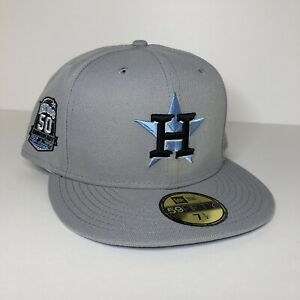 New Houston Astros Icy Blue UV Side Patch New Era 59FIFTY Fitted Size 7 1/2