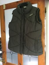 Animal Brown Quilted Zip Up Sleeveless Warm Gilet Body Warmer Size 14
