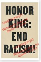 1968 Honor King End Racism Civil Rights Martin Luther King Jr. Honorary Poster