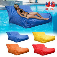 4 Colors Bean Chair Sofa Couch Cover Indoor Outdoor Kids Adult Swimming Pool USA