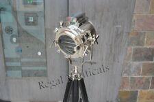 CHROME DESIGNER TRIPOD FLOOR LAMP NAUTICAL SPOT SEARCHLIGHT HOME DECOR LIGHT