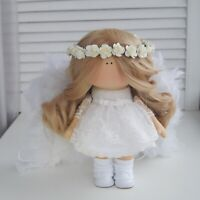 Handmade fabric angel doll for home decor and interior design 10'' gift toy