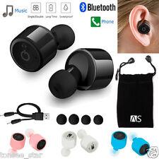 Mini True Wireless Bluetooth Twins Stereo In-Ear Headset Earphone Earbuds BK