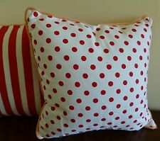 Alexa Reversible Cushion Cover red spots and stripes