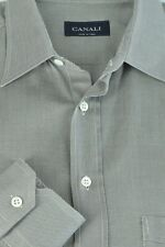 Canali Men's Gray Twill Elegant Soft Cotton Dress Shirt 16.5 x 36/37