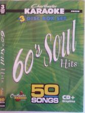 CHARTBUSTER KARAOKE CDG  60s SOUL HITS  (5022)  3 DISC BOX SET  50 TRACKS   NEW