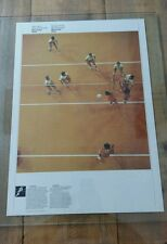 Vintage 1976 Montreal Official COJO olympic  Poster - Volleyball &  Handball