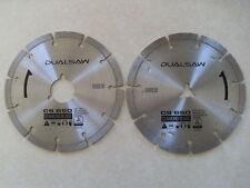 DualSaw Destroyer CS650 Diamond OEM Replacement 2 Blade Set Dual Saw Masonry
