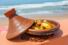 Traditional Arabic Morocco Tajin - special for cooking made of clay and original