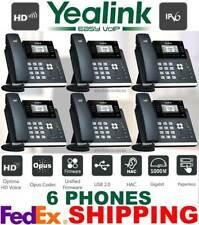 YEALINK SIP-T42S ULTRA ELEGANT GIGABIT IP VOIP PHONE SYSTEM-12-LINES - 6 PHONES