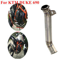 Titanium Muffler Eliminator Middle Pipe Exhaust KTM DUKE 690 2012 -2017 Slip-on