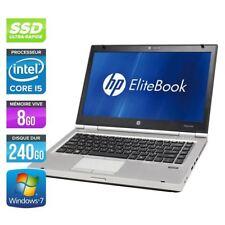 HP Elitte Book 8460p i5/ 8GO/ 128 GO SSD/ Win 7
