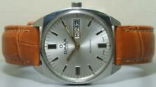 Vintage Omax Automatic Day Date Mens Wrist Watch s368 Old Used Antique