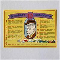 Queensland's 10 Commandments 1986 Joke Postcard (P409)