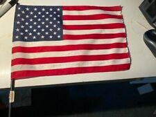 Robert G. Heft signed Mini Us flag and biography as designer of Us Flag