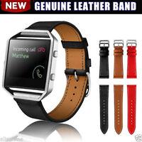 Luxury Genuine Soft Leather Watch band Wrist Strap For Fitbit Blaze Smart Watch