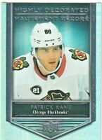 2019-20 UD TIM HORTON'S PATRICK KANE HIGHLY DECORATED INSERT #HD2 NM-M CHICAGO