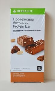 HERBALIFE Protein Bar vanilla almond, chocolate peanut, lemon 14х35g Exp:01/2023