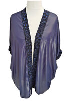 Plus sizes Light Loose Floaty Open Front Jacket Cardigan Special Occasions NEW