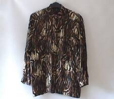 Collared Animal Print Semi Fitted Blouses for Women